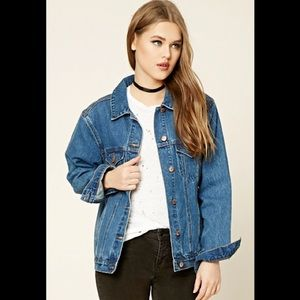 Women's Forever21 Denim Embroidered Jacket S 💕